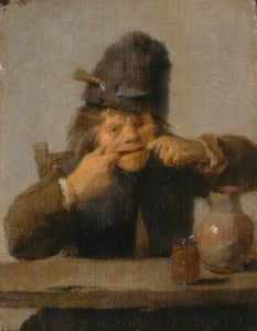 Adriaen Brouwer, Youth Making a Face, c.1632/35, oil on panel, 5 3/8 x 4 1/8 in.