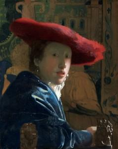 Johannes Vermeer, Girl in the Red Hat, c.1665-66, oil on panel, 9 7/8 x 7 1/8 in.
