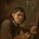 Gillis van Tilborgh II, Self-Portrait in Studio